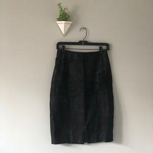 Vintage 100% Leather Skirt!